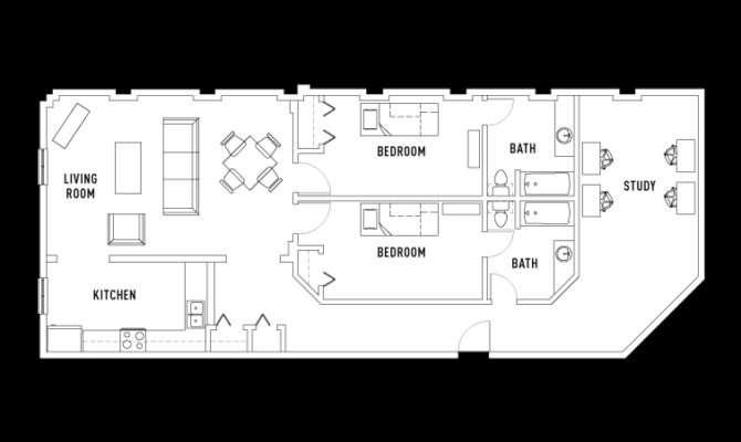 Bed Bath Study Double Occupancy Lofts
