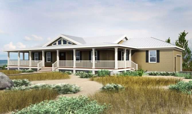 Bed Coastal Dune Ranch Home Plan
