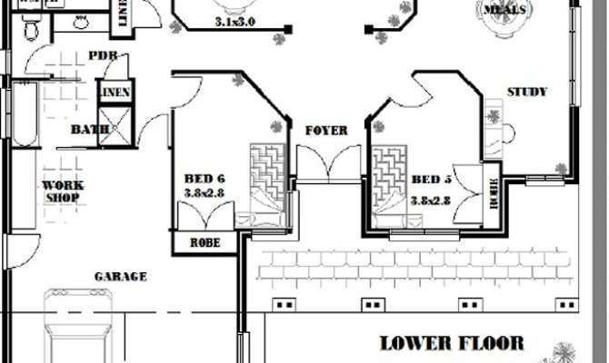Bed Room Study House Plan