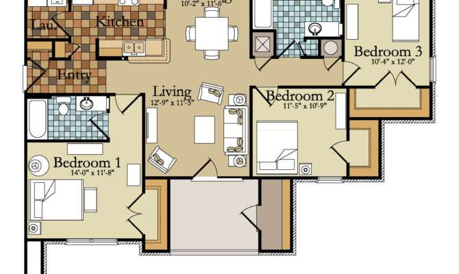 Bedroom Apartment Building Floor Plans Latest