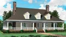 Bedroom Bath Country Farmhouse Style House Plan Plans