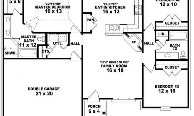 Bedroom Bath French Traditional Style House Plan Plans