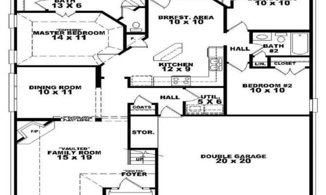 Bedroom Bath House Floor Plan