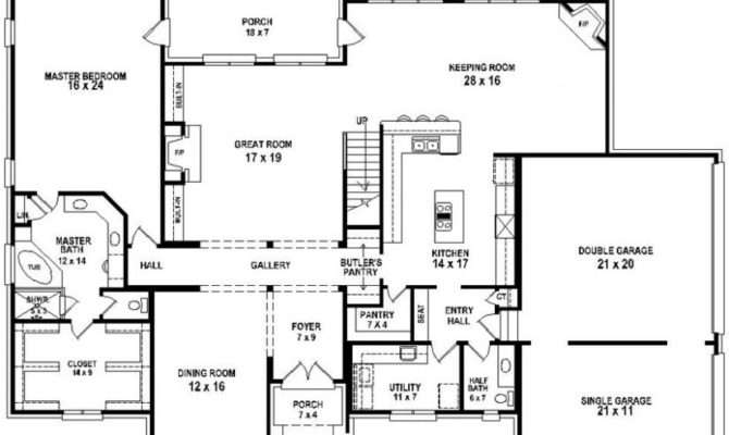 Bedroom Bath House Plan Plans Floor Home