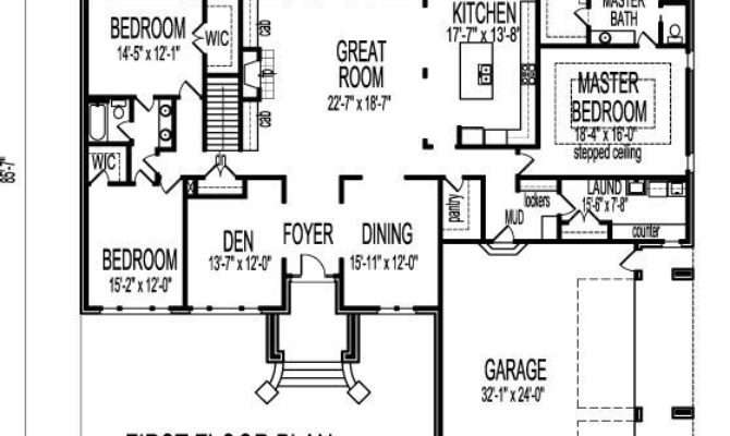 Bedroom Bath House Plans Basement Fresh