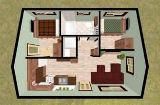 Bedroom Bath House Plans Gorgeous Adorable Small