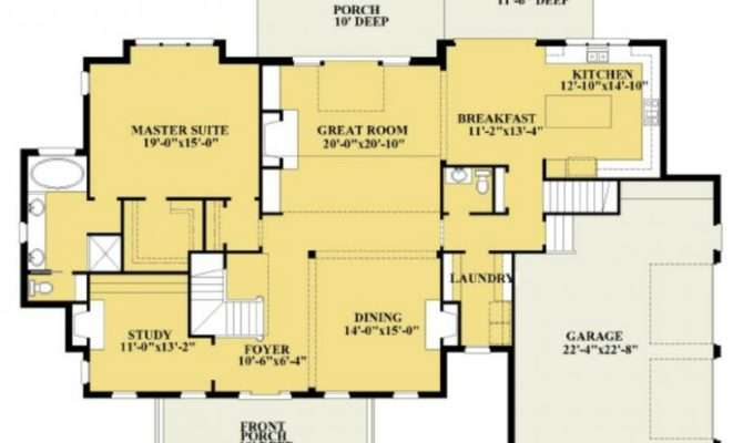 Bedroom Bath Plan House Plans Floor Home