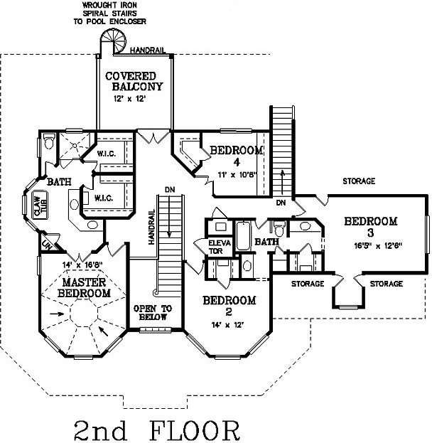 Bedroom Bath Victorian House Plan Alp