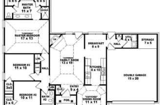 Bedroom Bath Victorian Style House Plan Plans Floor