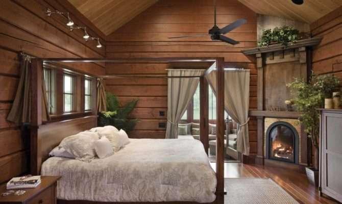 Bedroom Bathroom Timber Log Home