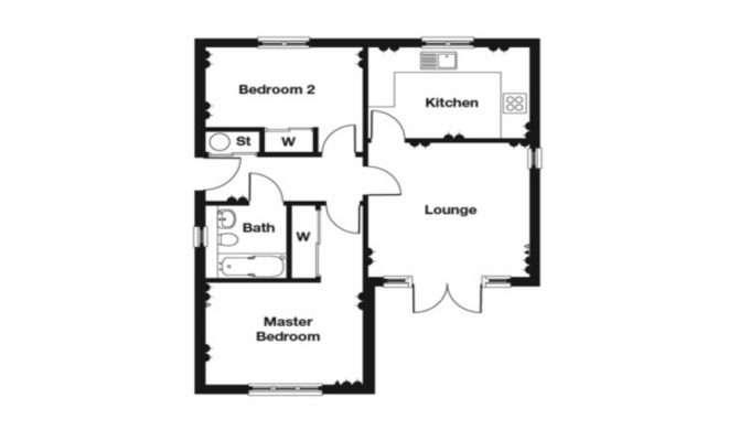Bedroom Bungalow Floor Plan Story House Plans