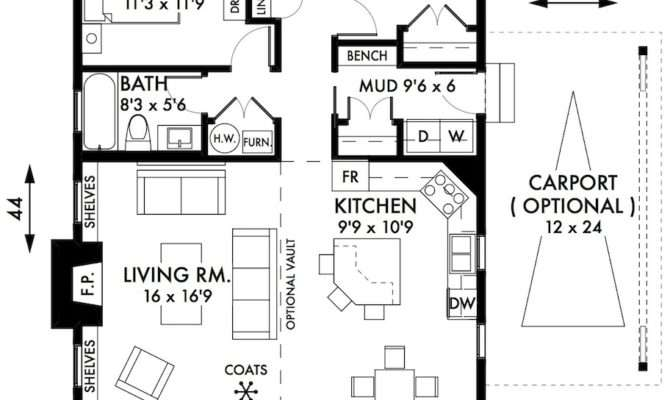 Bedroom Cottage House Plan Jeremy Newell Design