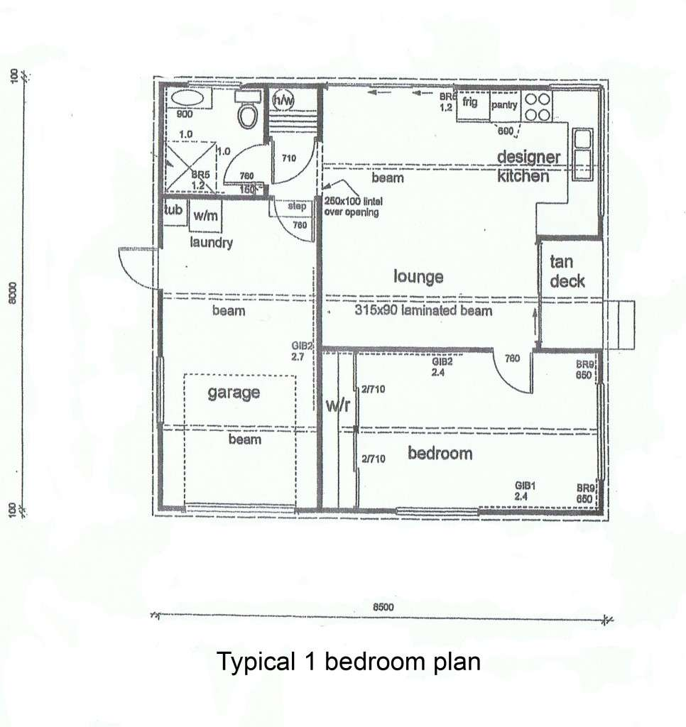 Bedroom Cottage Plans Floor