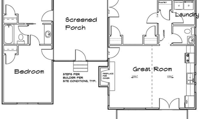 Bedroom Dog Trot House Plan Architectural
