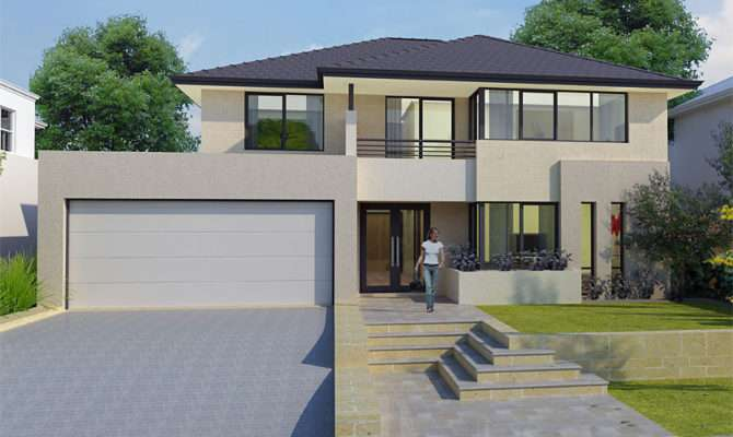Bedroom Double Storey House Plans Australia Two Home