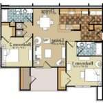 Bedroom Duplex Apartment Plans Clipgoo