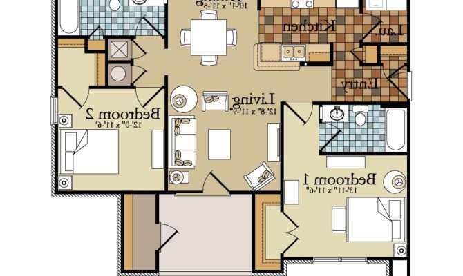 Bedroom Duplex Apartment Plans Clipgoo