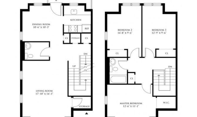 Bedroom Duplex Apartment Plans Latest Bestapartment