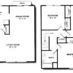 Bedroom Duplex Bath House Plans Cosca