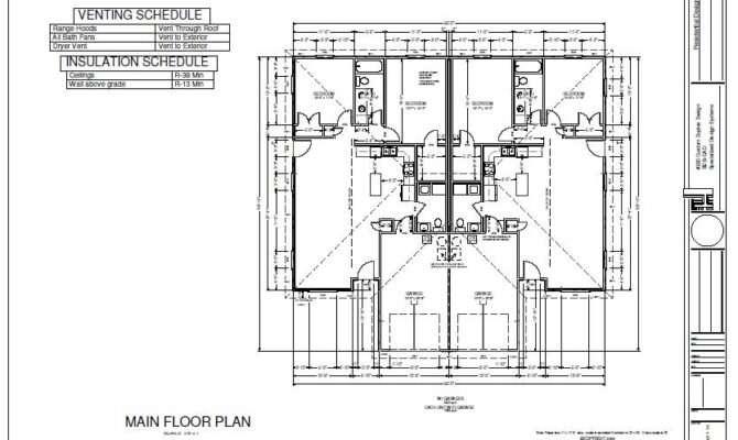 Bedroom Duplex Plans Blueprints Construction Documents House