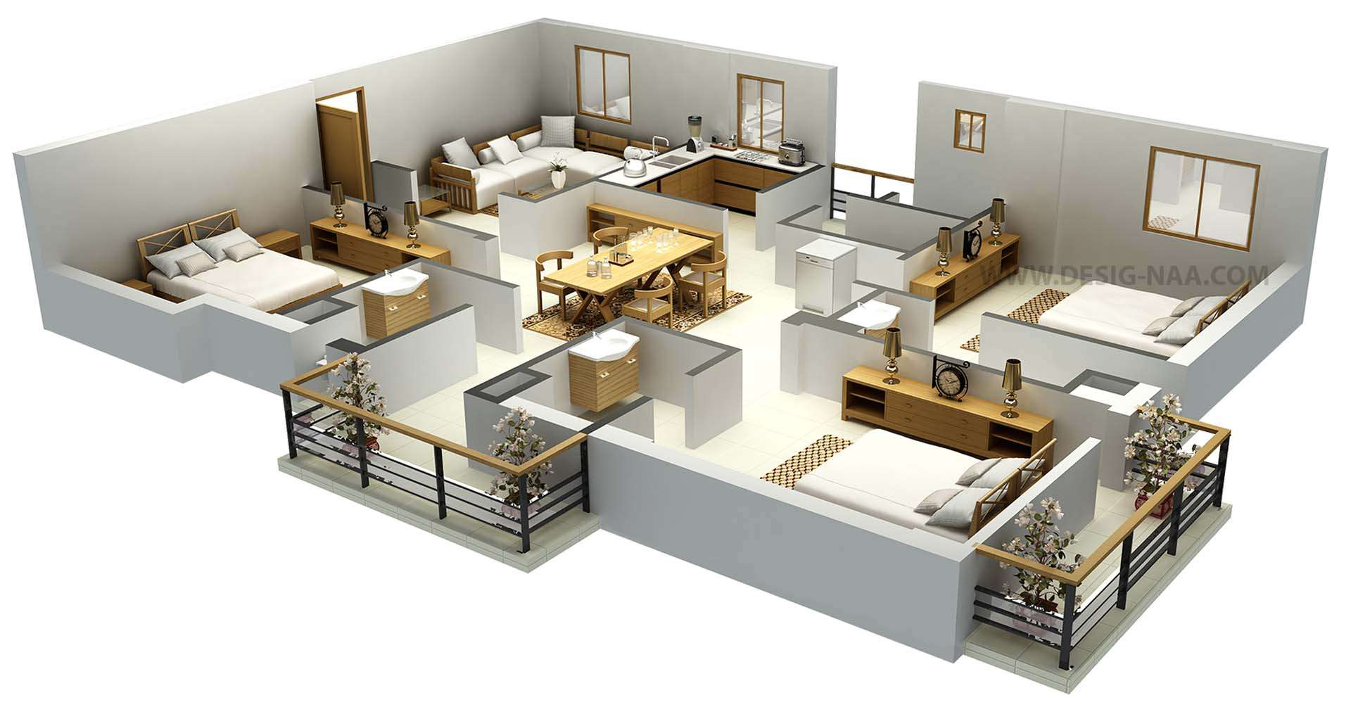 Bedroom Flat Plan Ideas House Design Plans