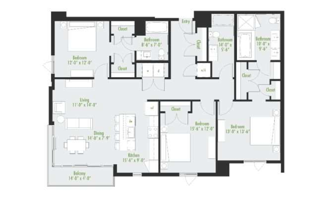 Bedroom Flat Plans Nigeria