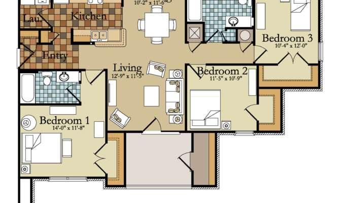 Bedroom Flats Floor Plans Home Deco