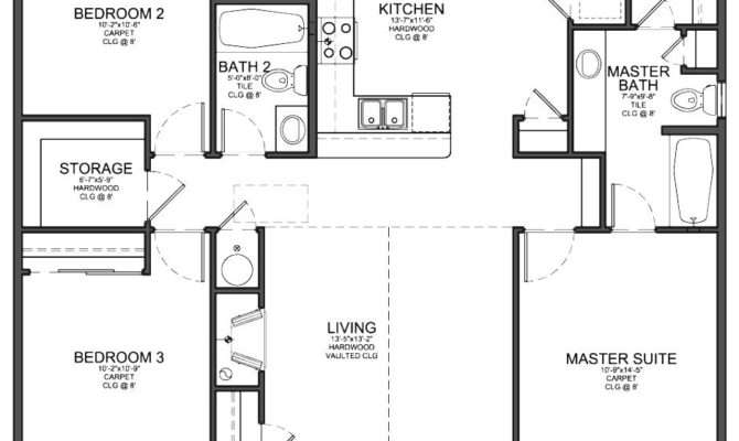 Bedroom Floor Plans House Home Design