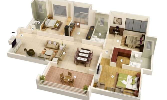 Bedroom Floor Plans Modern House Plan