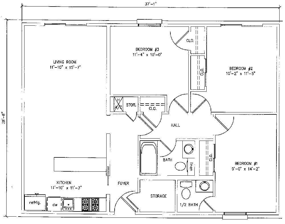Bedroom Floorplan Square Feet
