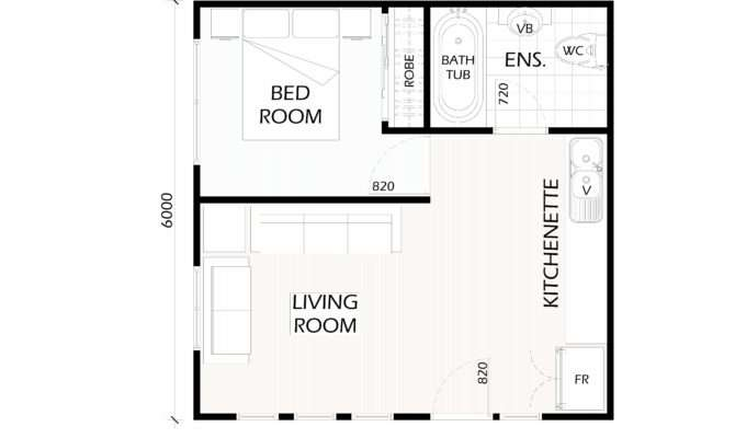 Bedroom Granny Flat Floor Plans Ideas House