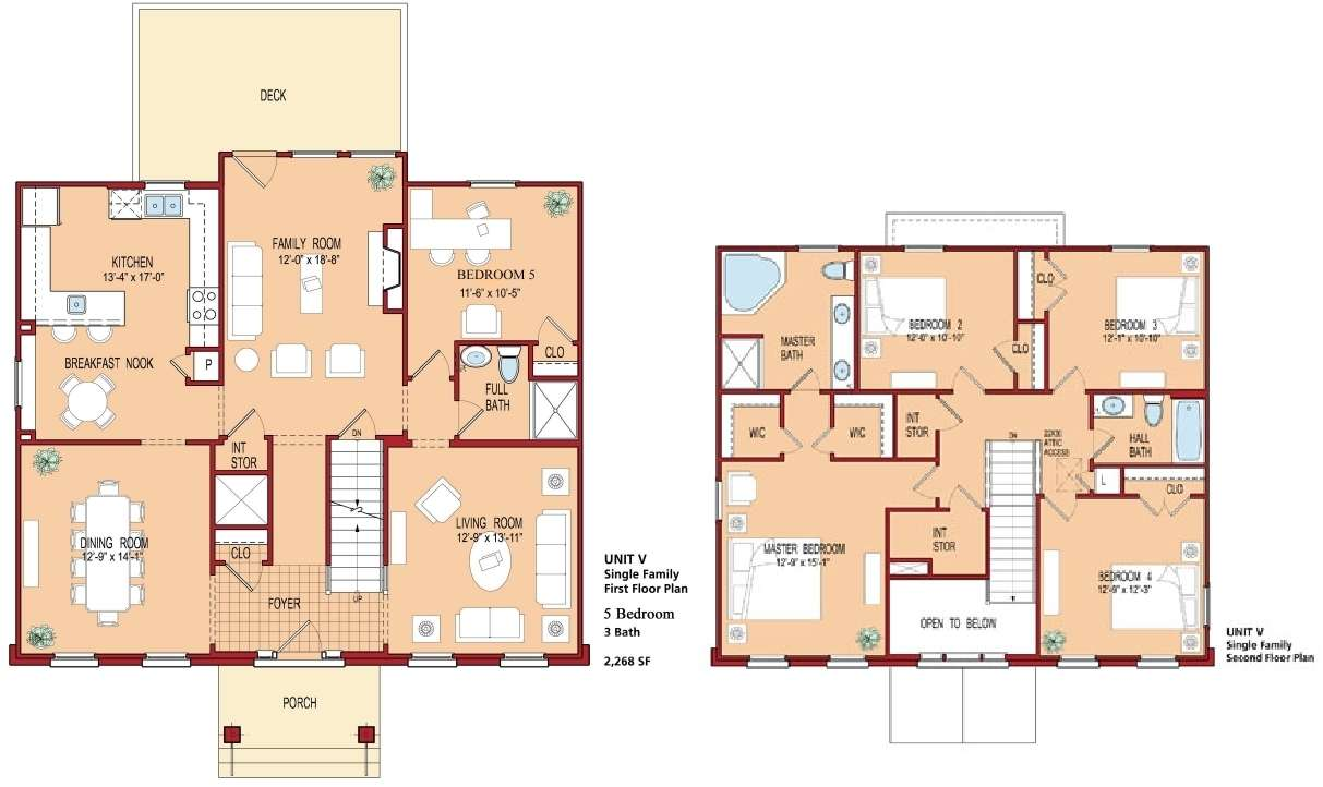 Bedroom House Floor Plan Plans Bed Home