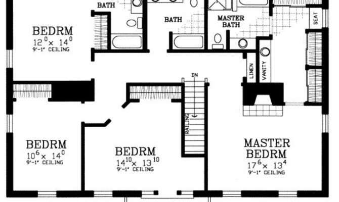 Bedroom House Floor Plans Home Deco