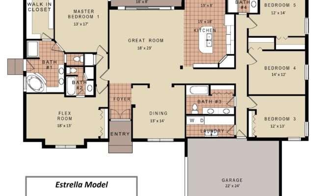 Bedroom House Floor Plans Models Redglobalmx