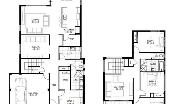 Bedroom House Plans Designs Unique Two Story
