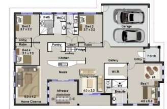 Bedroom House Plans Home Design Ideas