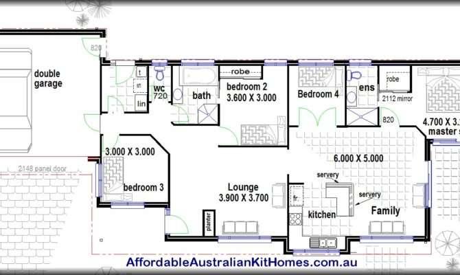 Bedroom House Plans Kit Homes Australian