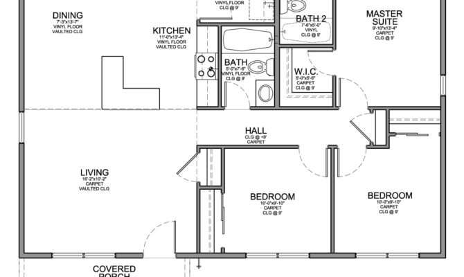 Bedroom House Plans Small Spaced Luxury Design
