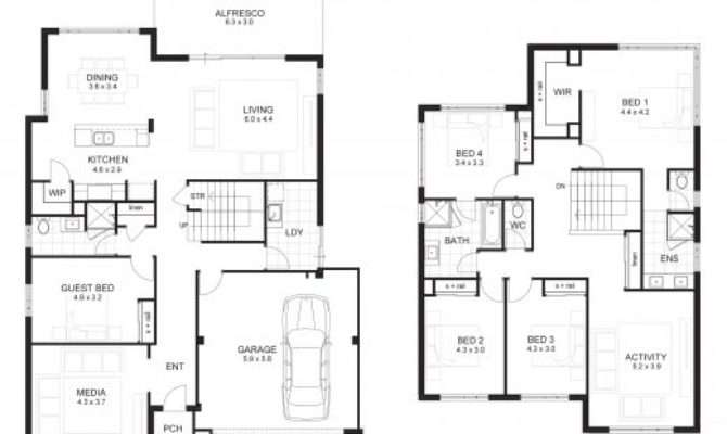 Bedroom House Plans Story Floor