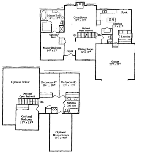 Bedroom House Plans Two Story Functionalities