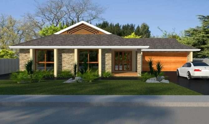 Bedroom Huge Living Area Real Estate House Plans Double Garage Blue