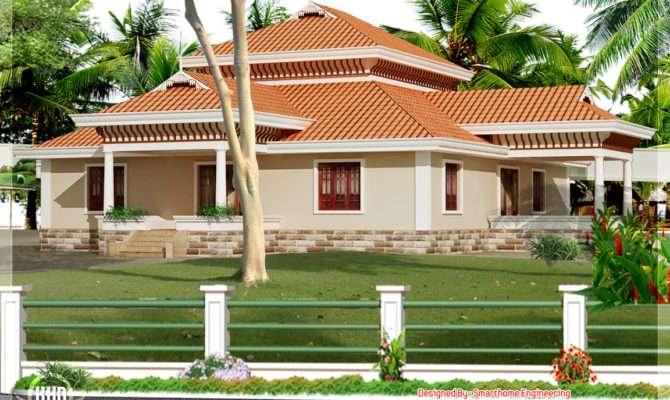 Bedroom Kerala Style Single Storey House Home Design