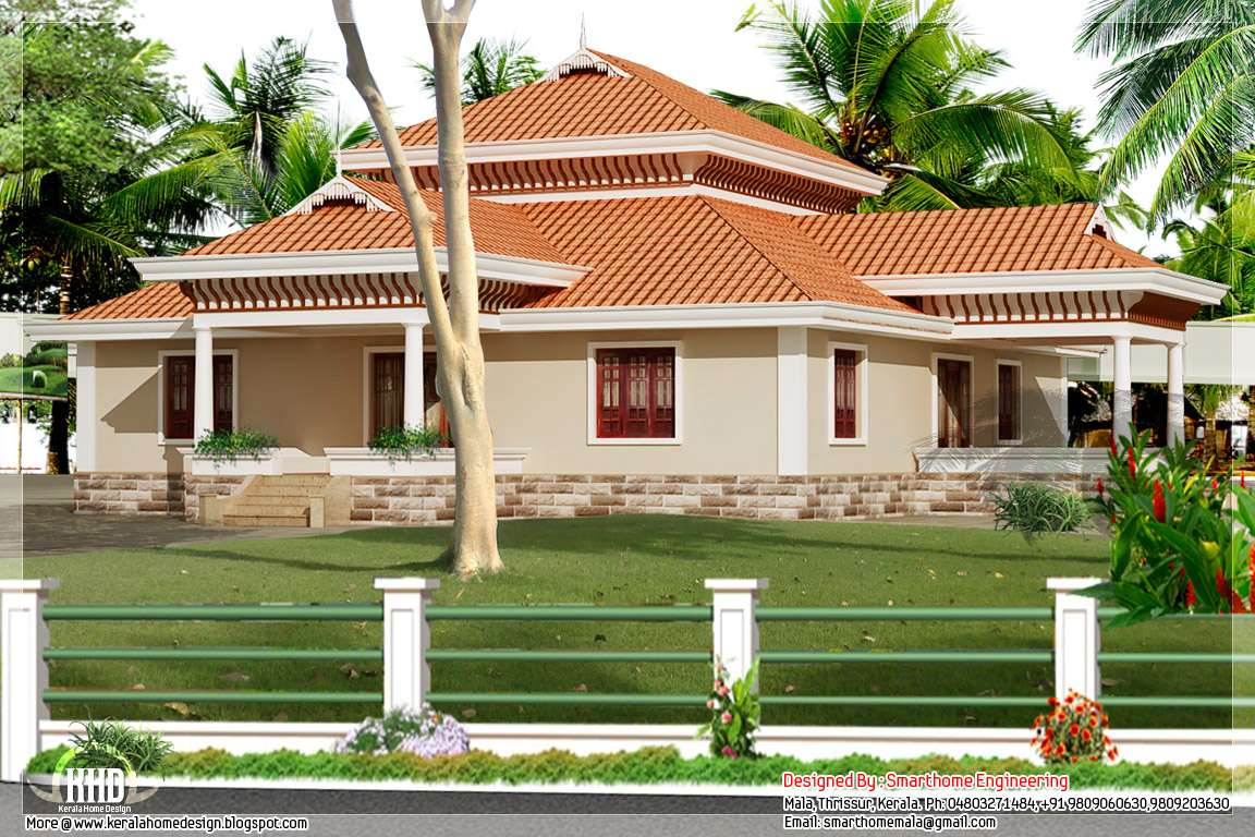 Bedroom Kerala Style Single Storey House Home Design