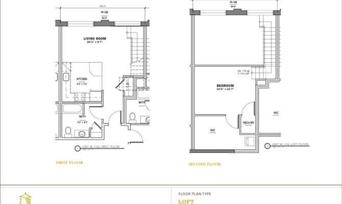 Bedroom Loft Apartment Floor Plans Two Bedrooms