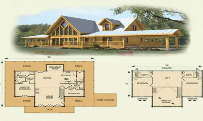 Bedroom Log Cabin Floor Plans Interalle