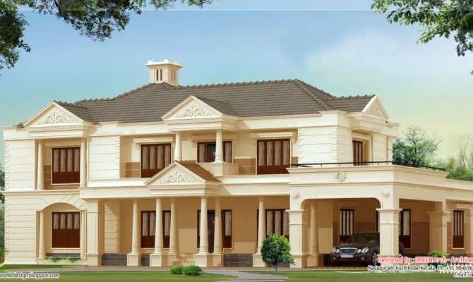 Bedroom Luxury House Design Kerala Home Floor Plans