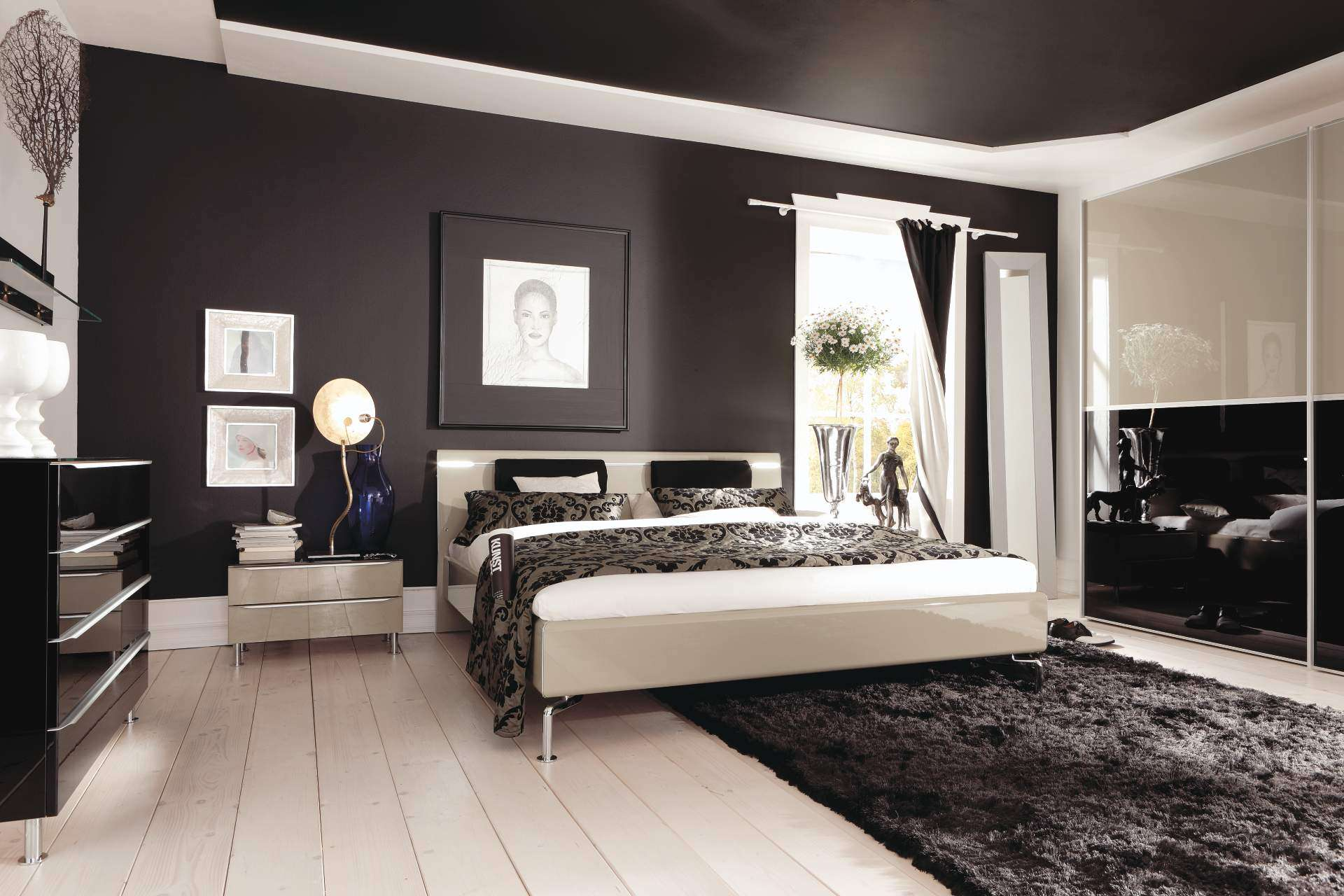 Bedroom Modern Interior Decor Hardwood Tile