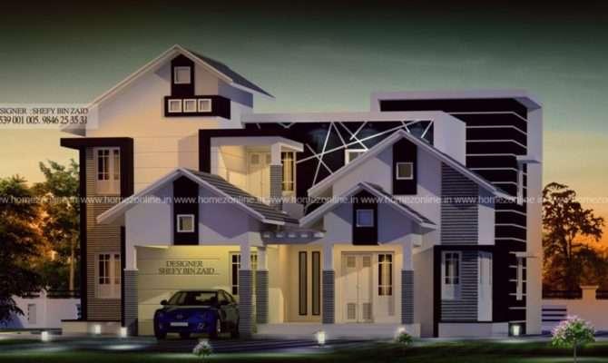 Bedroom Modern Mixed Roof House Homezonline