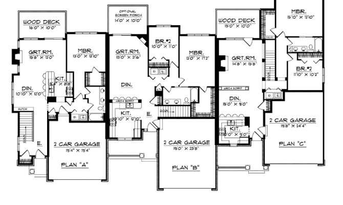 Bedroom Ranch Style House Plans Floor Aflfpw Story