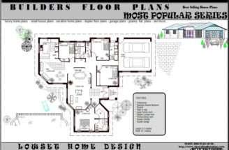 Bedroom Single Story Home Floor Plan Bath Blueprints